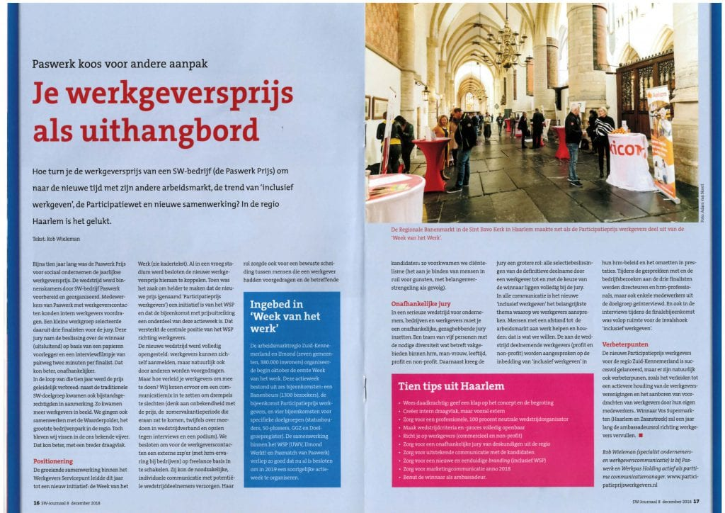 ppw2018 artikel in vakblad sw journaal december 2018