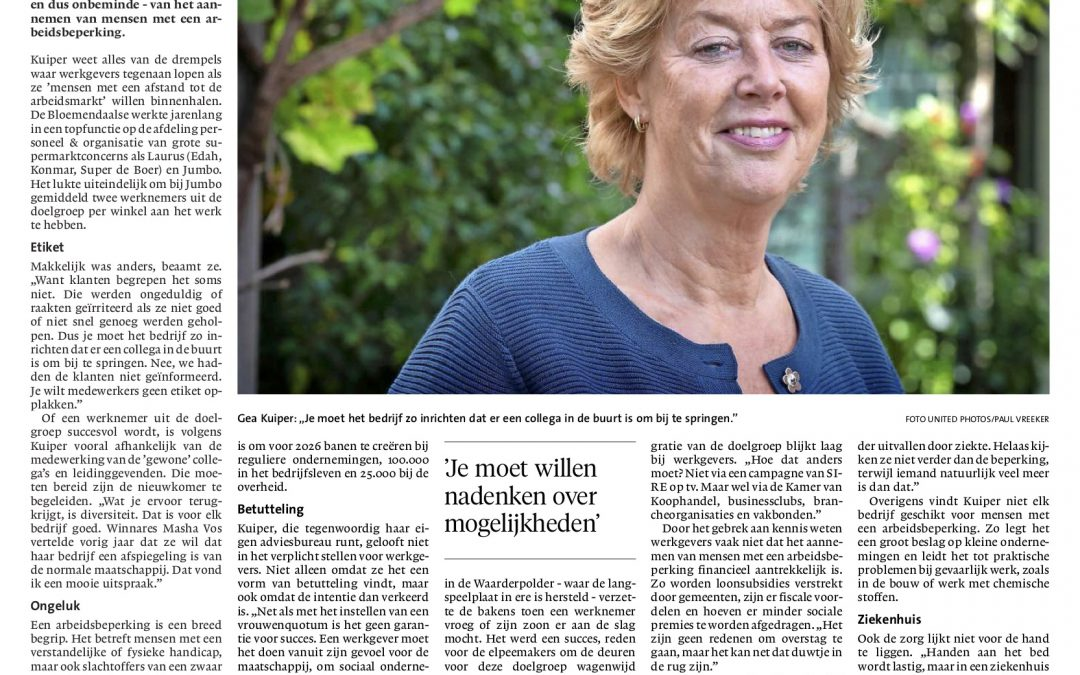 Gea Kuiper in Haarlems Dagblad