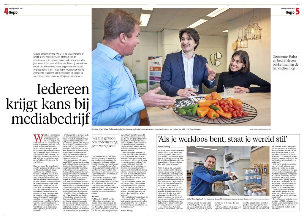 meo-haarlems-dagblad-winnaar-participatieprijs-werkgevers-2019