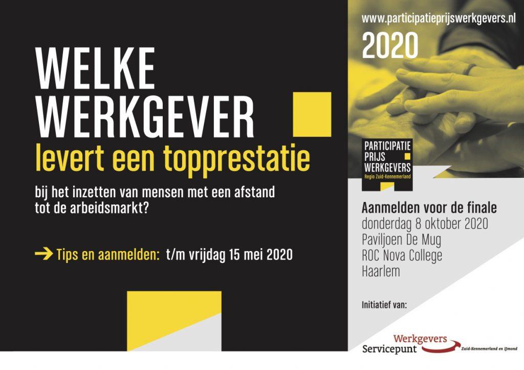 Informatiekaart wedstrijd Participatieprijs werkgevers 2020