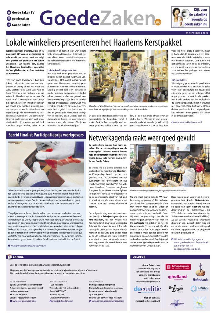 goede-zaken-secrid-participatieprijs-werkgevers-haarlems-dagblad-28-9-2021 copy