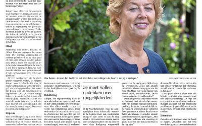 Gea Kuiper in Haarlems Dagblad